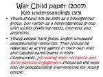 war child paper 2007 key understandings 3 3