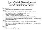 war child sierra leone programming process