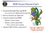doe excess process con t