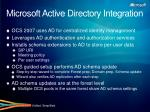 microsoft active directory integration