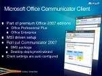 microsoft office communicator client