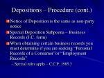depositions procedure cont4