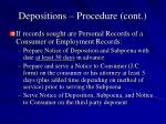 depositions procedure cont7