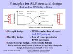 principles for als structural design illustrated for fpso ship collision