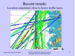 recent trends location sometimes close to heavy traffic lanes