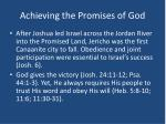 achieving the promises of god1