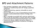 bpd and attachment patterns