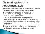 dismissing avoidant attachment style