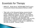 essentials for therapy1