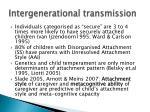 intergenerational transmission