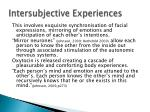 intersubjective experiences