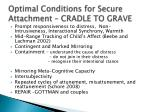 optimal conditions for secure attachment cradle to grave
