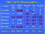 dr cafta demographics