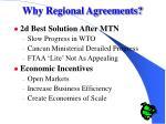 why regional agreements