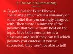 2 the art of summarizing exercise 2