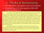 2 the art of summarizing2
