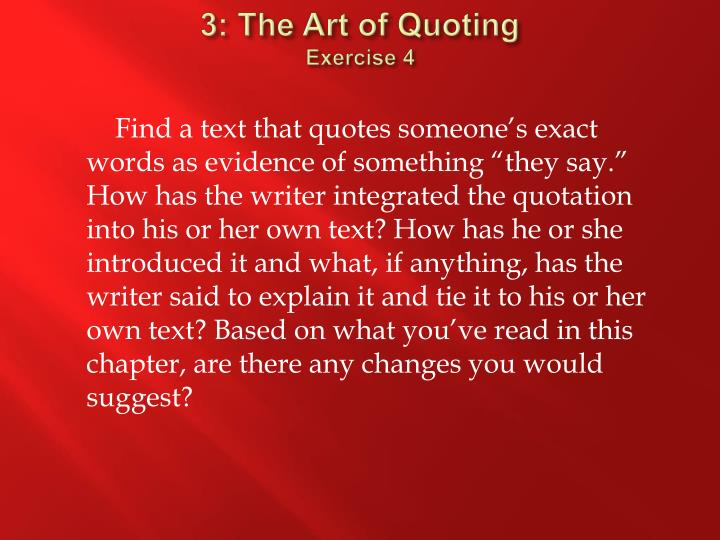 3: The Art of Quoting