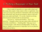 6 putting a naysayer in your text2