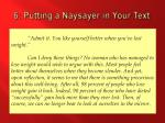 6 putting a naysayer in your text4