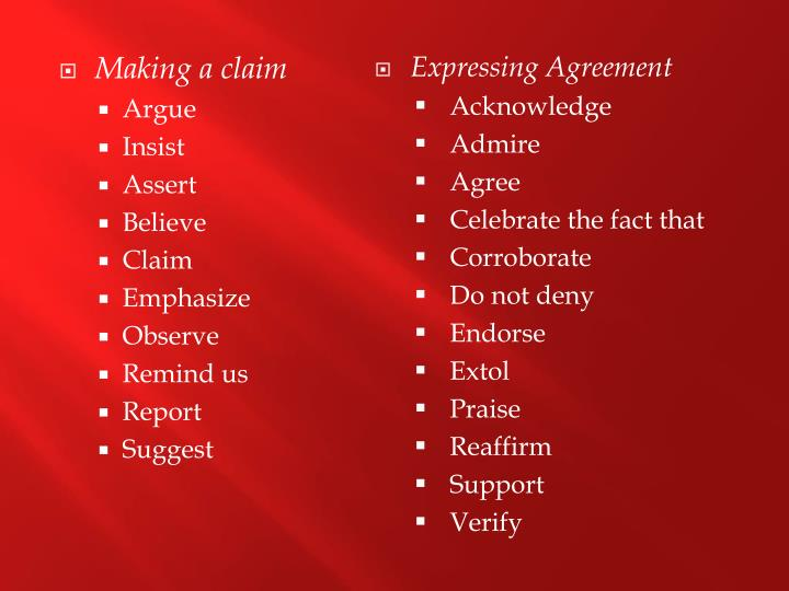 Expressing Agreement