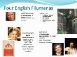 four english filumenas