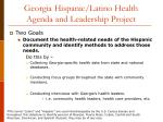 georgia hispanic latino health agenda and leadership project