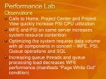 performance lab observations1