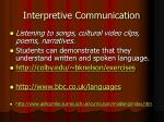 interpretive communication