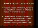 presentational communication
