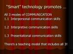 smart technology promotes