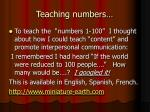 teaching numbers