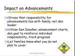 impact on advancements