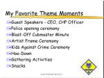 my favorite theme moments