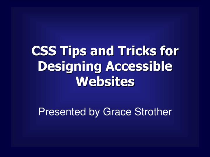 css tips and tricks for designing accessible websites n.