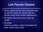 link pseudo classes