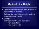 optimal line height