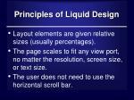 principles of liquid design