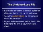 the undohtml css file