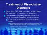 treatment of dissociative disorders