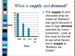 what is supply and demand