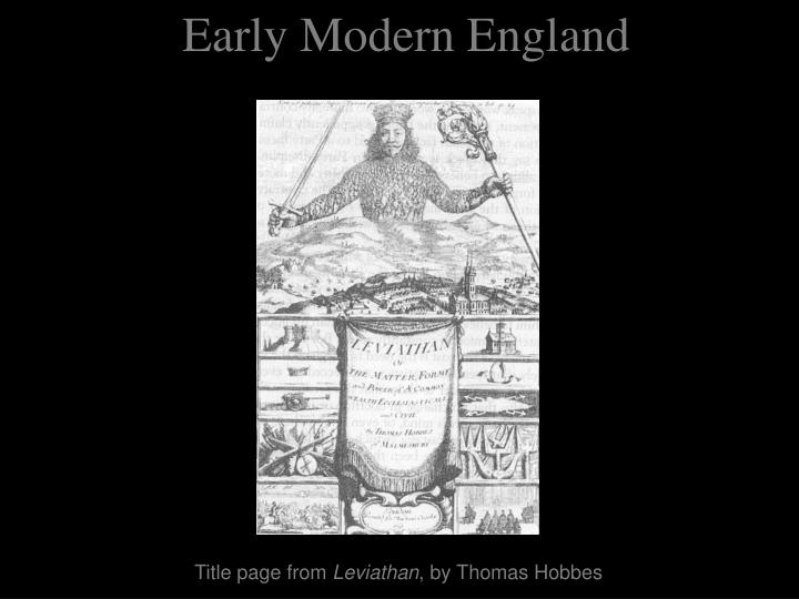 early modern england n.