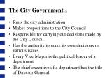 the city government 2