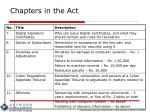 chapters in the act1