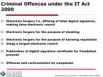 criminal offences under the it act 2000
