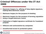 criminal offences under the it act 20002