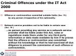 criminal offences under the it act 20004