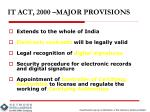 it act 2000 major provisions