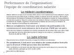 performance de l organisation l quipe de coordination salari e