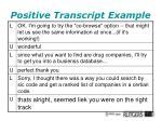 positive transcript example1