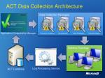 act data collection architecture